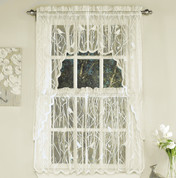 Songbird Lace Kitchen Curtain - Ivory