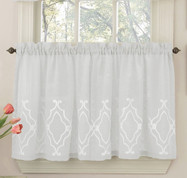 "Carlyle 36"" kitchen curtain tier - White"