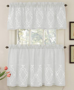 Carlyle Kitchen Curtain - White from Lorraine Home Fashions