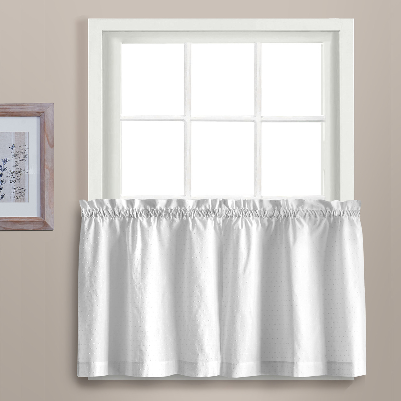 Dorothy 36 Kitchen Curtain Tier White