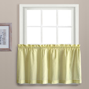 "Dorothy 24"" kitchen curtain tier - Yellow"
