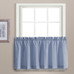 Dorothy Swiss Dot Kitchen Curtain tier - Blue