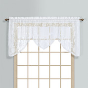 Windsor Lace Swagger Valance - White from United Curtain