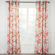 Arden Floral Lined Grommet Top Curtain Panel - Pink from Ellis Curtain