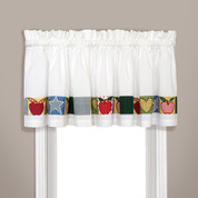 Appleton Apples kitchen curtain valance from United Curtain