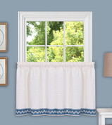 "Camden from Achim 24"" kitchen curtain tier - Blue"