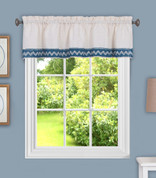 Camden from Achim kitchen curtain valance - Blue