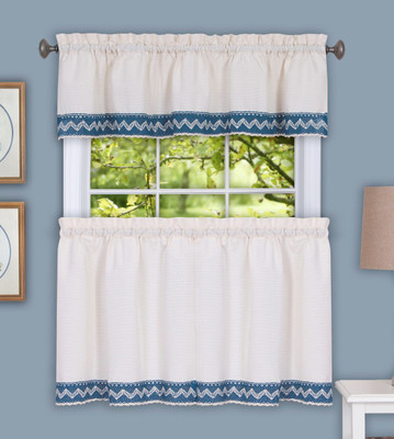 Camden Blue Kitchen Curtain from Achim
