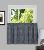 "Sydney from Achim 24"" kitchen curtain tier - Grey"