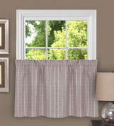"Sydney from Achim 36"" kitchen curtain tier - Linen"