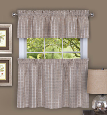 Sydney Linen Kitchen Curtain from Achim