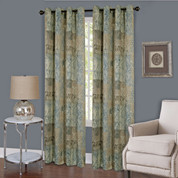 Vogue Room Darkening Grommet Top Curtain Panel - Blue