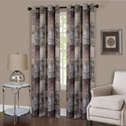 Vogue Room Darkening Grommet Top Curtain Panel - Brown