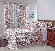 Botanica Reversible Quilted Bedspreads - Sienna
