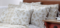 Botanica Reversible Quilted Throw Pillow - Wheat