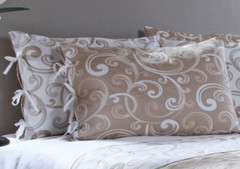 Laurel Reversible Quilted Pillow Sham - Taupe