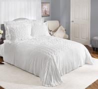 Sylvia Cotton Chenille Bedspreads - White