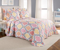 Vanessa Quilted Bedspread - Silver
