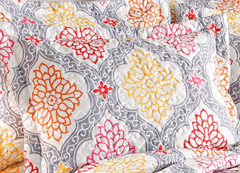 Vanessa Quilted pillow sham - Silver