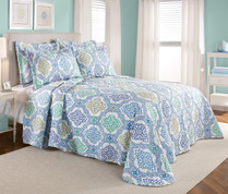 Vanessa Quilted Bedspreads - Provence Blue