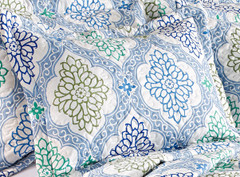Vanessa Quilted Pillow Sham - Provence Blue