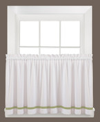 "Kate 24"" kitchen curtain tier - Sage from Saturday Knight"
