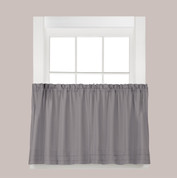 "Holden 24"" kitchen curtain tier - Grey"