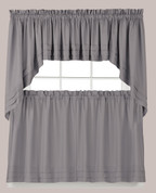 Holden Kitchen Curtain - Grey from Saturday Knight