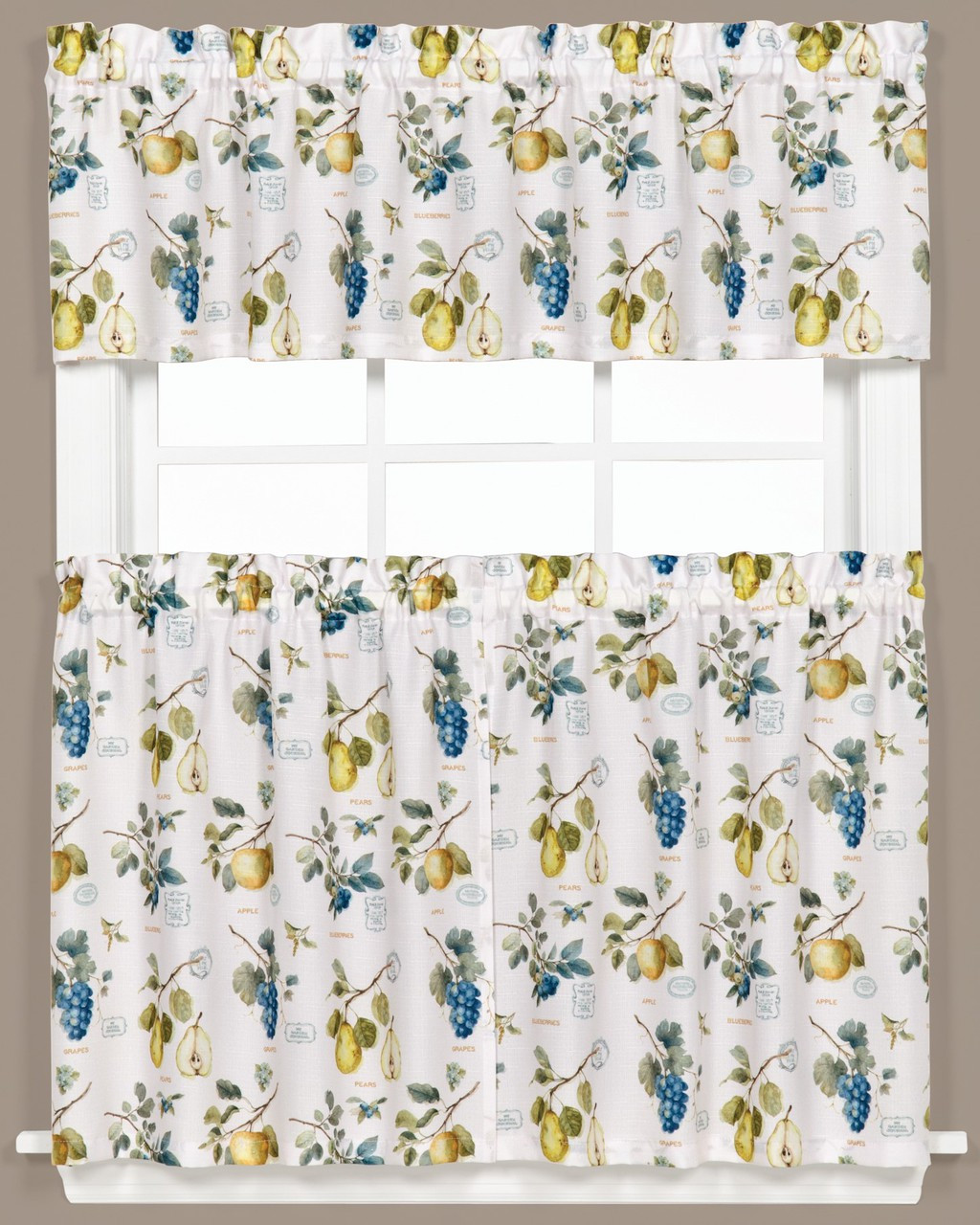 New Kitchen Curtains For Less: Botanical Fruit Kitchen Curtain