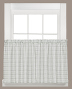 "Checkmate 36"" kitchen curtain tier from Saturday Knight"