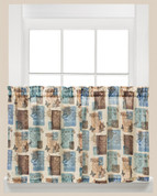 "Faith inspirational 36"" kitchen curtain tier from Saturday Knight"