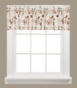 Le Jardin kitchen curtain valance from Saturday Knight