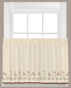 "Live 36"" kitchen curtain tier from Saturday Knight"
