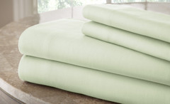 200 Thread Count Solid Sheet Set 100% cotton - Soft Jade