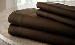 200 Thread Count Solid Sheet Set 100% cotton - Mocha