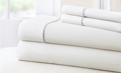 400 Thread Count Rope Sheet Set 100% cotton - White/Grey