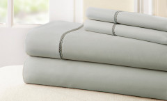 400 Thread Count Rope Sheet Set 100% cotton - Silver/Charcoal