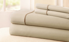 400 Thread Count Rope Sheet Set 100% cotton - Linen/Mocha