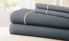 400 Thread Count Rope Sheet Set 100% cotton - Charcoal/White