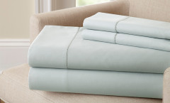 400 Thread Count Single Hole Hem Sheet Set 100% cotton - Blue