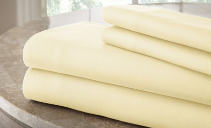 200 Thread Count Solid Sheet Set 100% cotton - Ivory