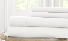600 Thread Count Solid Sheet Set 100% cotton - White
