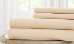 600 Thread Count Solid Sheet Set 100% cotton - Ivory