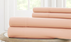 600 Thread Count Solid Sheet Set 100% cotton - Peach