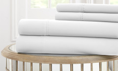 1000 Thread Count Solid Sheet Set 100% cotton - White