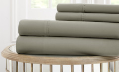 1000 Thread Count Solid Sheet Set 100% cotton - Platinum Grey