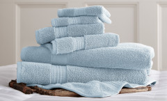Luxury Spa Collection 6 piece towel SET - Light Blue