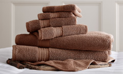 Luxury Spa Collection 6 piece towel SET - Mocha