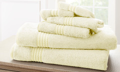 Bamboo Collection 6 piece towel SET - Ivory