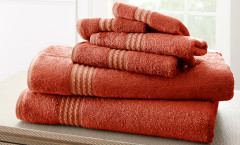 Bamboo Collection 6 piece towel SET - Marsala